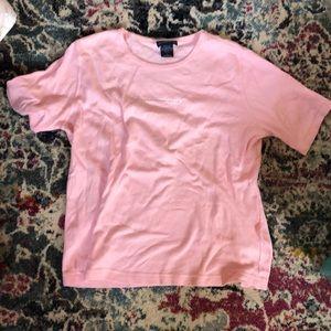 pink t-shirt with rhinestones